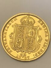 More details for 1887 half sovereign first year jubilee head 22ct gold shield back high grade
