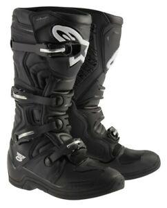 Alpinestar Tech 5 Motocross MX OffRoad Race Boots Black Adults