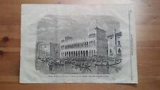 1873 Illustrazione Popolare: Veduta Facciata del Fondaco dei Turchi a Venezia