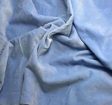 """Hand Dyed Cotton VELVETEEN Fabric SKY BLUE fat 1/4 18""""x27"""" remnant"""