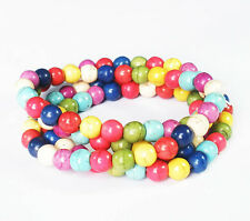 22inch Tibet 108 Mixed Color Turquoise Prayer Beads Mala Necklace or Wrist Beads