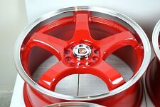 17 red wheels rims GTI Golf TC XB Elantra K900 Sonata Vibe Element 5x100 5x114.3