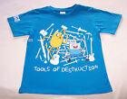 Adventure Time Finn & Jake Boys Blue Printed T Shirt Size 10 New