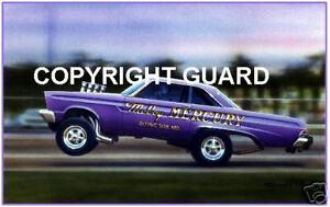 McCoy Mercury A/FX  Ex.Hayden Profitt car, Circa 1966 Drag Racing Art Print