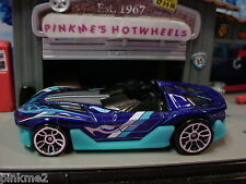 2012 Hot Wheels Yur So Fast ☆Dark Blue☆New Loose☆Hot Wheels Code ☆