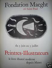 BRAQUE Georges Affiche en phototypie 1969  art abstrait abstraction cubisme