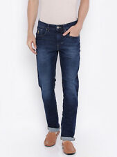 Export Surplus, Men's Blue Delta Tampered Slim Fit Jeans,