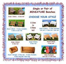 MINIATURE Fairy Garden benches -CHOOSE YOUR STYLE- terrarium chair bench
