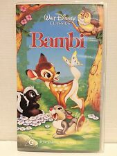WALT DISNEY CLASSIC ~ BAMBI ~ VHS VIDEO