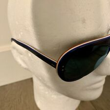 Vintage Ski & Sun Sunglasses Red White Blue Laminated 1970's Hand Made France