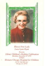 First Lady Laura Lynn Ryan Presenting Ethnic Children's Holiday Celebration-1999