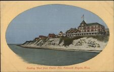 Falmouth Heights Cape Cod MA From Casino Pier c1910 Postcard