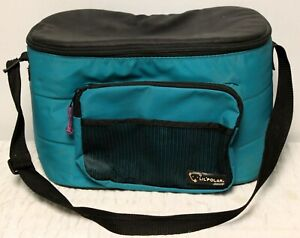Coleman Lil Polar Soft Sided Teal Cooler Insulated Hold 12-pack Cans Black Strap