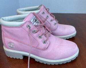 Timberland Pink Boots size 8M