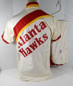 1986-87 Atlanta Hawks John Battle #12 3 Game Used White Warm Up Jacket Pants