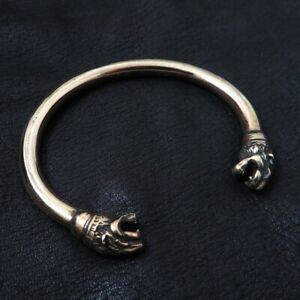 Bronze Lion Bracelet from Ancient Carthage. Phoenician Jewelry. Reenactment.