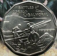 2018 50 Cents 1968 VIETNAM WAR Battles of Coral & Balmoral Choice UNC