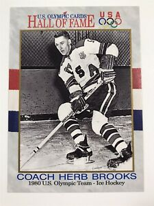 Coach Herb Brooks 1980 US Olympic Team USA Hall Of Fame 1991 Impel Card 73