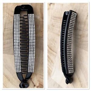 Black Diamante  Banana Hair Clips