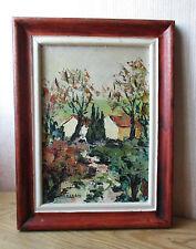 Ancien beau tableau signé Aimé Debono Buisson rouge peintre de Voiron Grenoble.