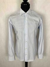 Valentino Herrenhemd Baumwolle Elegant Nadelstreifen Herr Cotton Hemd SZ.L - 50