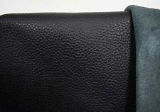 Italienisches Rindsleder Nappa schwarz 1,2-1,4 mm Lederreste Lederstücke #w002