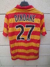 Maillot RC LENS Nike DINDANE n°27 football shirt 13 15 ans XL enfant = XS