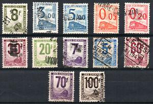 Lot de timbres Colis postaux (1944-1960) oblitérés