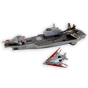 Toy Aircraft Carrier With Toy Fighter Jet Planes Launcher For Kids Army Toys