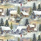 Winter Cottage by Henry Glass-Fat 1/4-Village-Snow-Trees