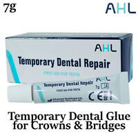 AHL Temporary Dental Glue Cement for Crowns and Bridges - DIY Emergency 7g