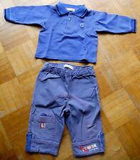 Ensemble garçon 6 mois polo et pantalon en toile Grain de blé