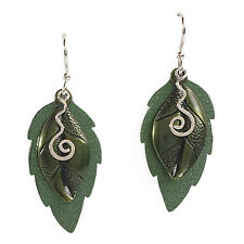 Jody Coyote Earrings JC0752 new Eden collection SMC120-01 green silver leaf