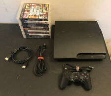 Sony Playstation 3 PS3 Slim CECH-3001A 160GB Console 1 Controller 11 Game Bundle