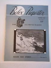 1952 BOLEX REPORTER MAGAZINE - SUMMER EDITION - SEE PICS - TUB QQQ