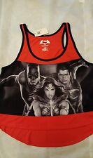 NEW!! DC  BATMAN vs SUPERMAN WONDER WOMEN high/low CROP TOP size S