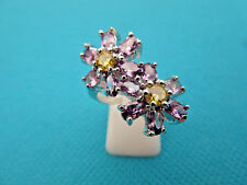 925 Sterling Silver Ring With Amethyst And Citrine Size P 1/2, US 8 (rg2030)