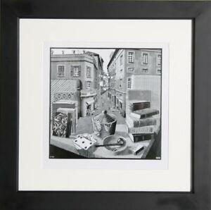 M.C. (Maurits Cornelis) Escher, Still Life and Street, 1934, Poster