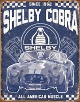 Shelby Cobra Vintage Retro Tin Metal Sign 13 x 16in