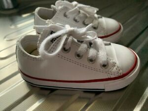 Infant White Converse Low Top Size 5