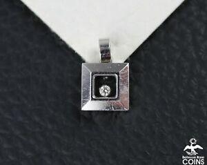 CHOPARD Happy Diamond 0.05 CTW & 18k White Gold Pendant