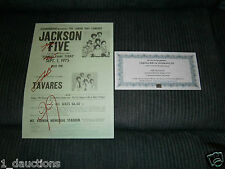 THE JACKSONS SIGNED FLYER POSTER WITH C.O.A - 1975 LABOR DAY CONCERT FLYER COPY
