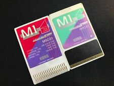 KORG M1 Variety PCM Program Cards - MSC-01 and MPC-01 Data & Program
