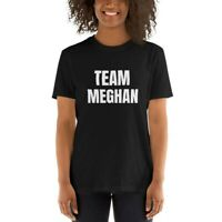 TEAM MEGHAN MARKLE SUPPORT BLACK T-SHIRT SIZES SMALL TO 3XL **BRAND NEW**
