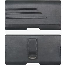Verizon Universal Vegan Leather Pouch w/ Belt Clip fits Most Medium Smartphones