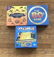 Board Games New Sealed The 80's Game ThinkBlot Kerflip Family Fun Mattel
