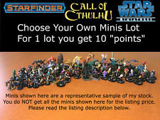 Choose Your Own Starfinder Miniatures lot Star Wars Call of Cthulhu Scifi Minis