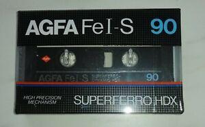 AGFA FeI-S 90 SUPERFERRO HDX Cassette Tape Brand New (Sealed)