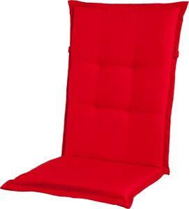 Polsterauflage Wendeauflage Sitzauflage rot Dessin 0612