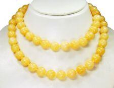 Wunderschöne Halskette aus Honigcalcit in Kugelform D-10 mm 90 cm lang